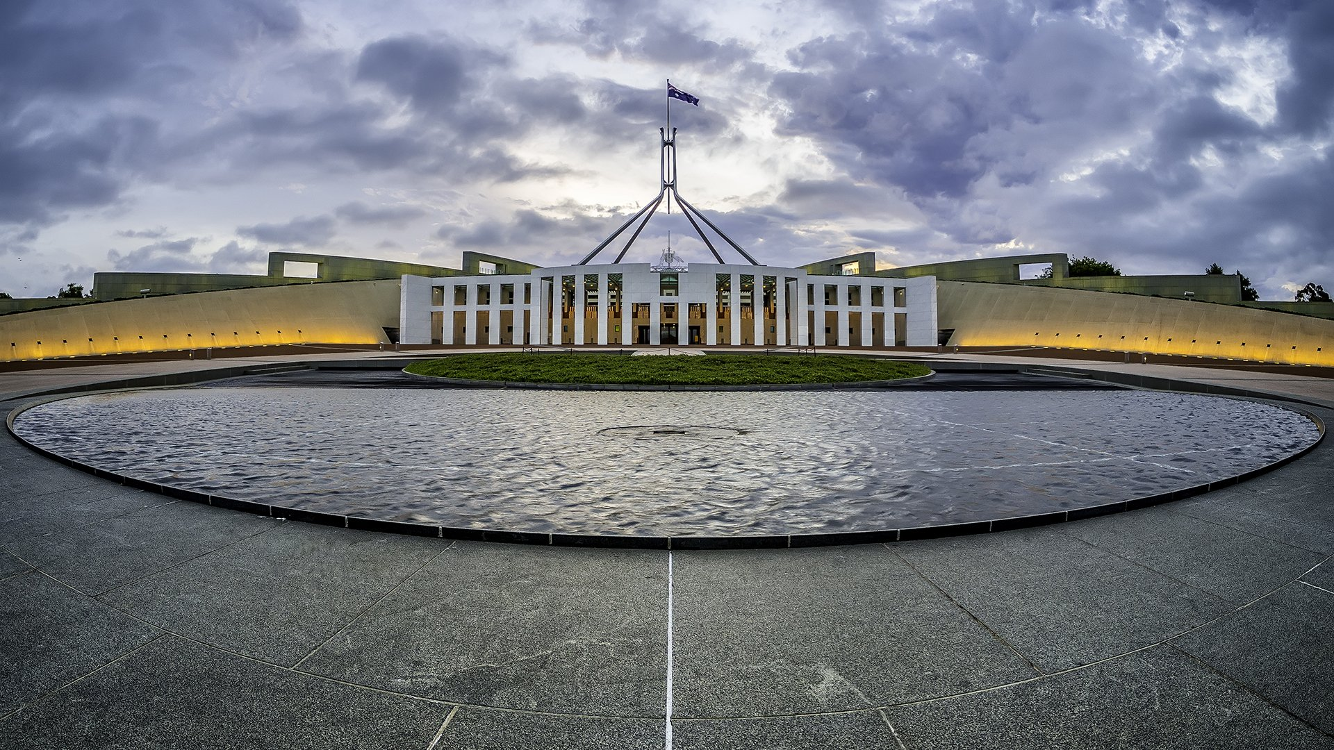 Parliament House at Sunset - Fish-Eye