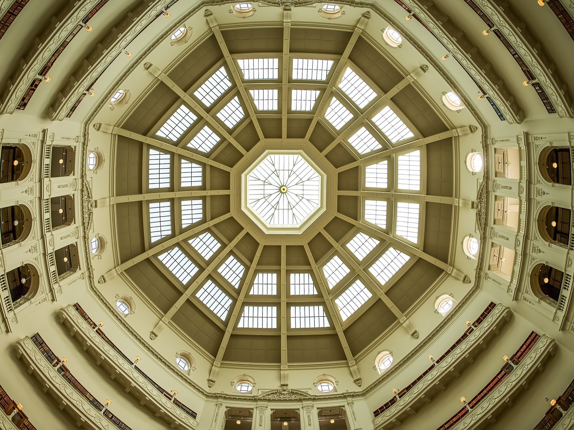 The Ceiling of the State Library of Victoria - Fisheye