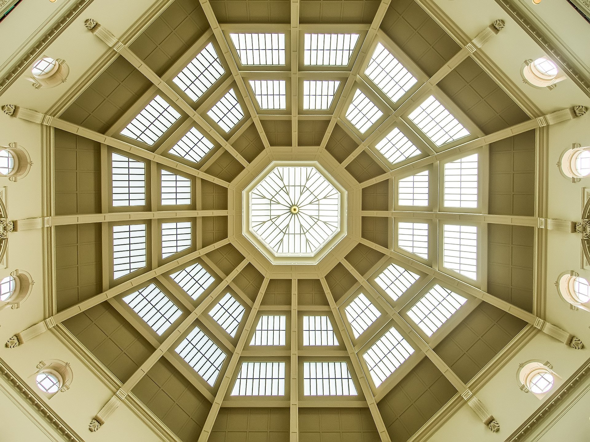 The Ceiling of the State Library of Victoria - Wide Angle