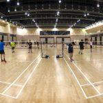 Sweating it out over Badminton