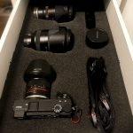 Making custom foam inserts for a camera drawer