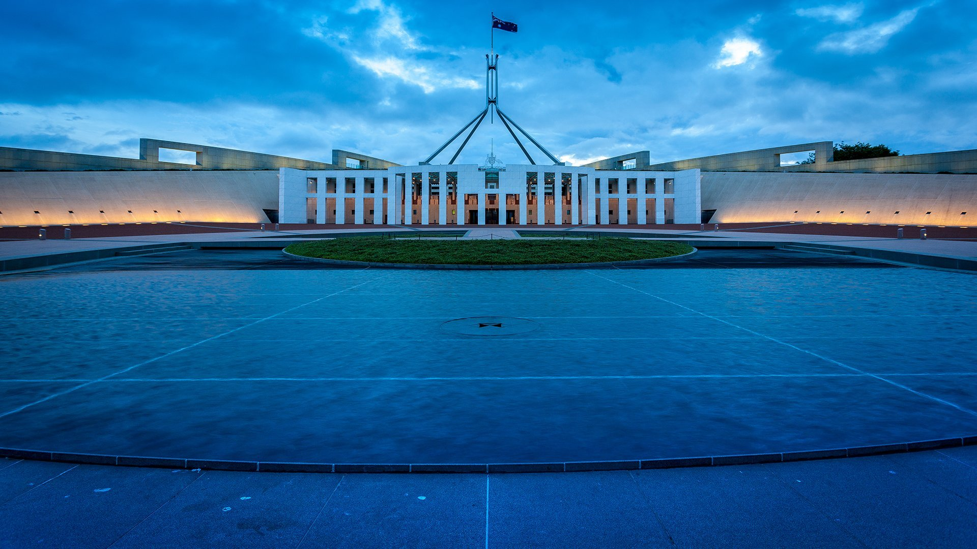Parliament House at Sunset - Wide-Angle