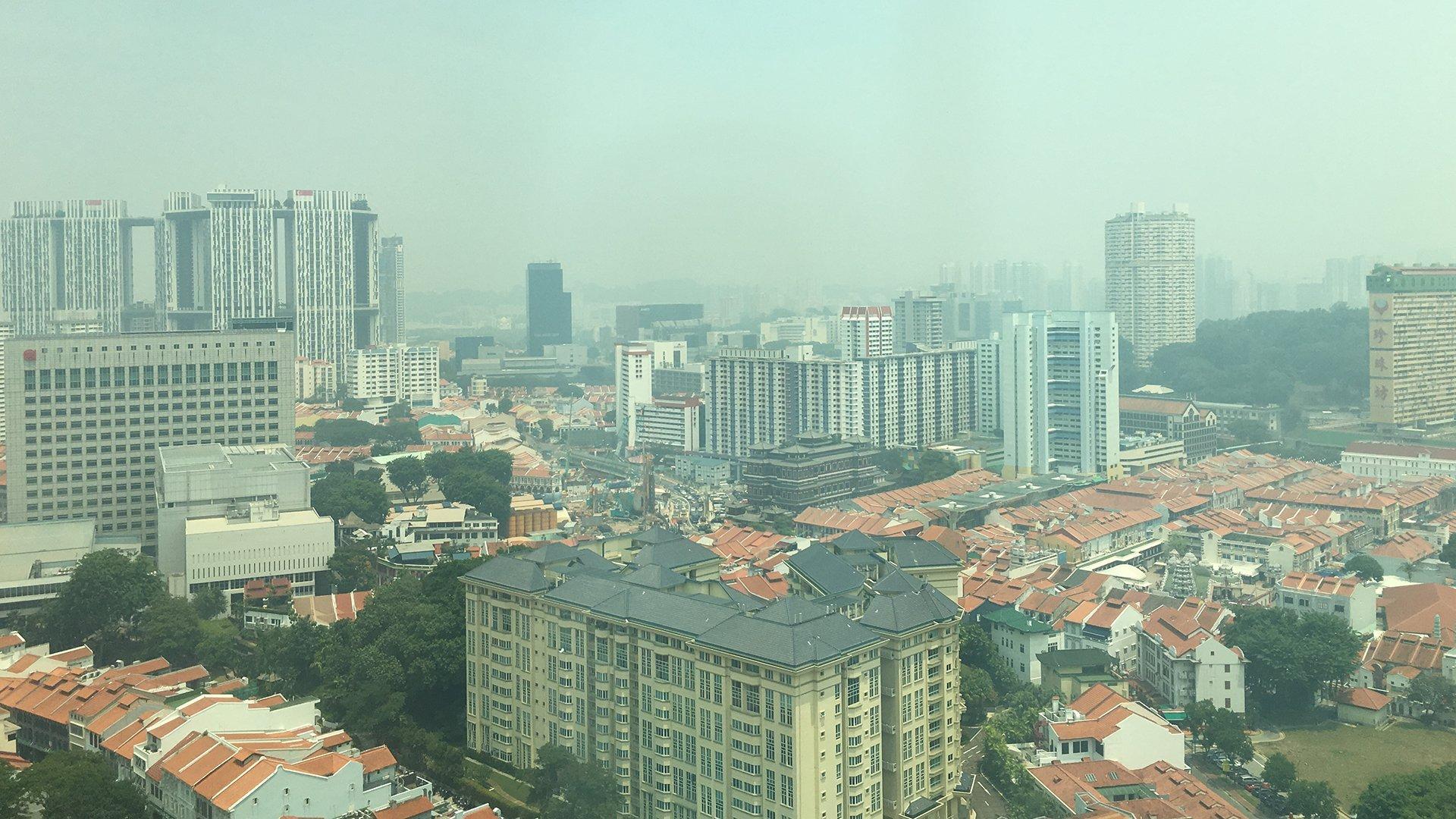 Singapore-with-the-haze